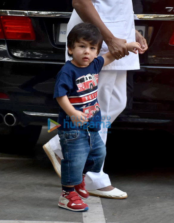 Taimur Ali Khan and Tusshar Kapoor's son Laksshya spotted in Bandra (3)