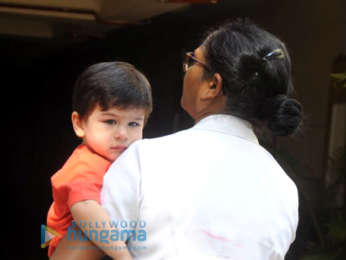 Taimur Ali Khan spotted outside his residence