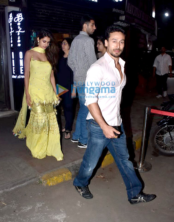 Tiger Shroff, Disha Patani and Athiya Shetty spotted at Bastian in Bandra