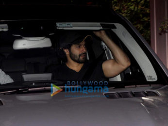 Varun Dhawan spotted in his new car at Maddock office