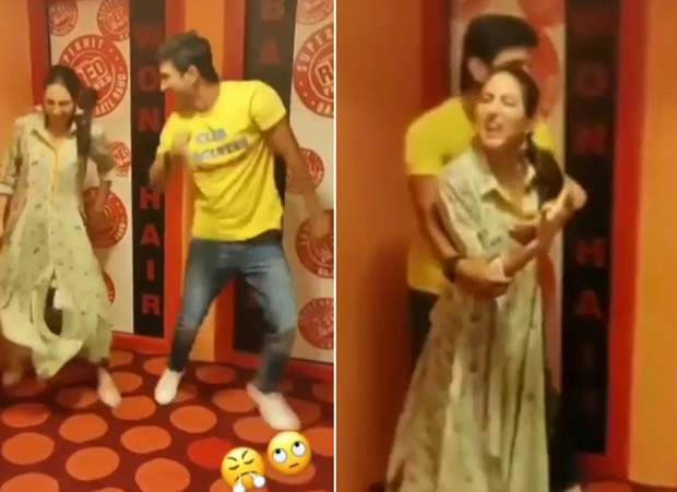 WATCH Sara Ali Khan attempts dad Saif Ali Khan's 'Ole Ole' hook step while Sushant Singh Rajput makes fun of her