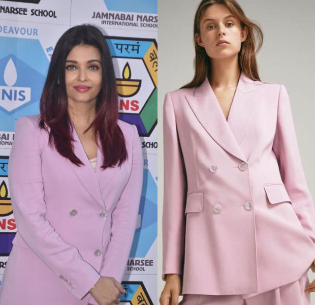 Aishwarya Rai Bachchan in Massimo Dutti blazer and Diesel denim for a sports meet (1)