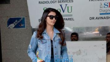 Daisy Shah snapped at a salon in Bandra
