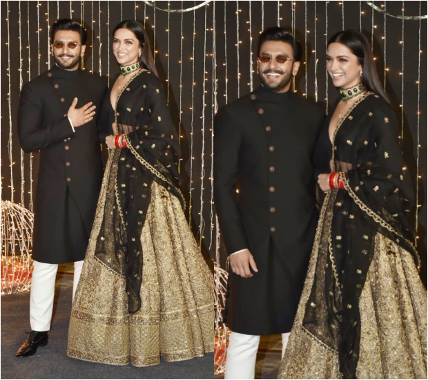 Deepika Padukone and Ranveer Singh at Priyanka Chopra - Nick Jonas Wedding Reception