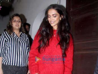 Deepika Padukone snapped at Krome Studio in Bandra
