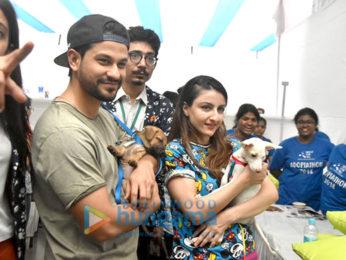 Farah Khan and Krishna Shroff and others at St Teresa Boys School for World Pet Adoption 2018