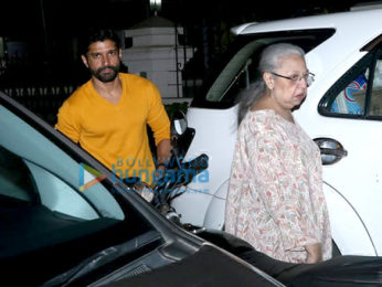 Farhan Akhtar snapped with mom spotted in Bandra