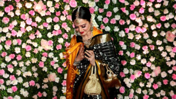 Film actress Rekha spotted at Kapil-Ginni Weddiing Reception