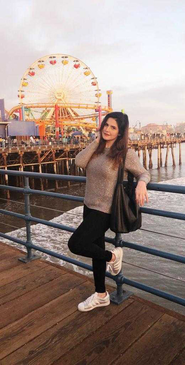 Here's how Zareen Khan is CELEBRATING Christmas far away from India