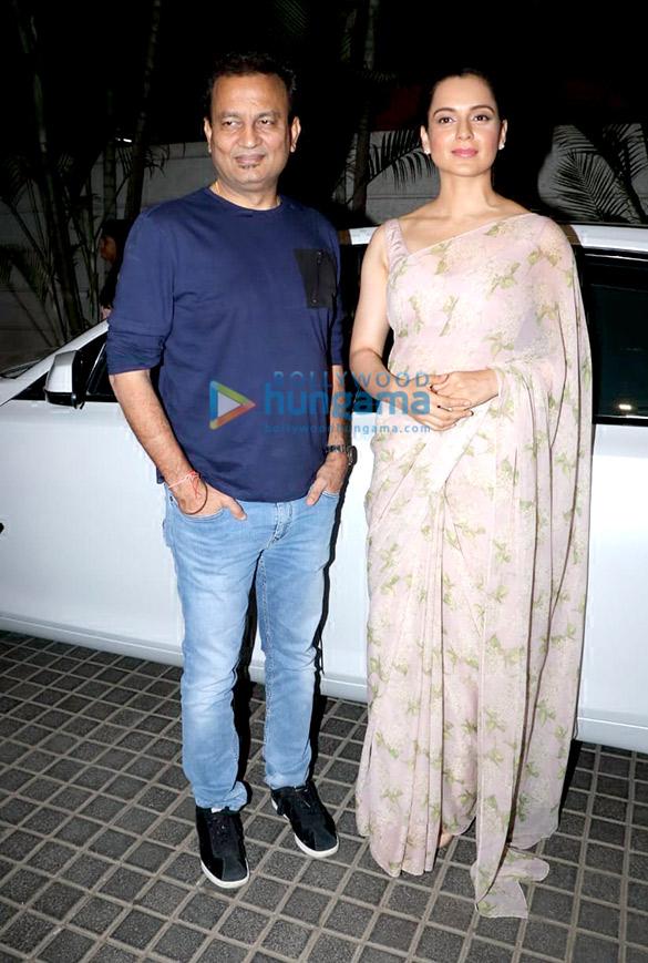 Kangana Ranaut and Kamal Jain spotted at Manikarnika promotions