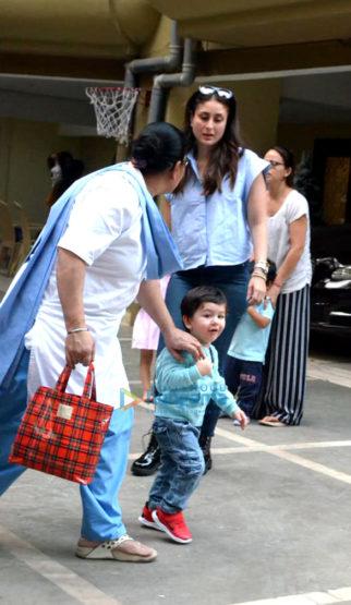 Kareena Kapoor Khan and Taimur Ali Khan snapped at his playschool in Bandra