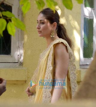 Kareena Kapoor Khan snapped during an ad shoot in Bandra