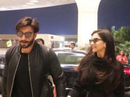 Newly Weds Ranveer Singh and Deepika Padukone Spotted at Mumbai Airport