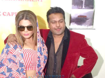 Rakhi Sawant and Deepak Kalal snapped during their wedding press meet