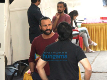 Saif Ali Khan snapped at the Mehboob Studios