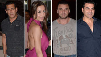 Salman Khan, Malaika Arora, Amrita Arora and others arrive at Arpita Khan residence to celebrate Salma Khan's birthday