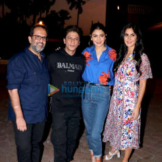 Shah Rukh Khan, Anushka Sharma, Katrina Kaif and Aanand L Rai snapped during Zero promotions at Taj Lands End, Bandra