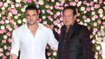 Sohail Khan with dad Salim Khan at Kapil-Ginni Wedding reception Mumbai
