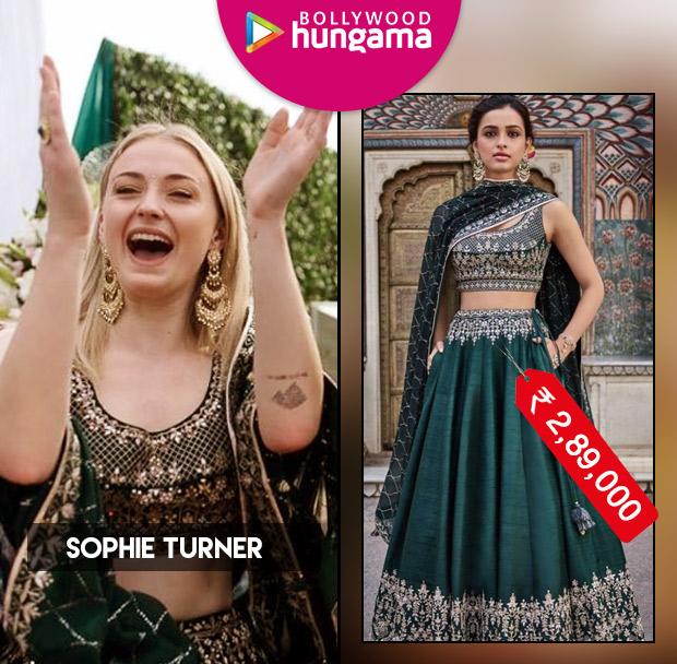 Sophie Turner in Anita Dongre for Priyanka Chopra - Nick Jonas Mehendi ceremony