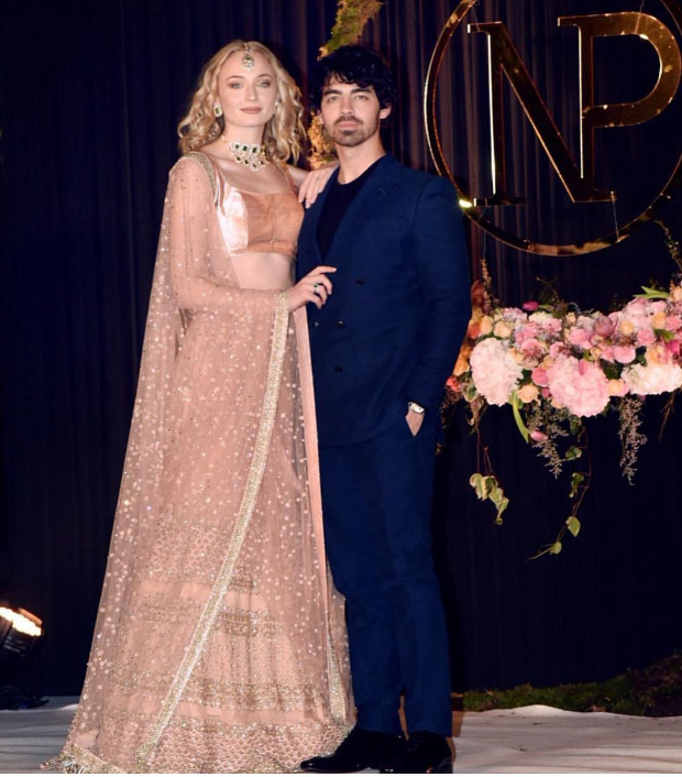 Sophie Turner in Sabyasachi for Priyanka Chopra - Nick Jonas wedding reception in Delhi
