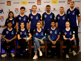 Taapsee Pannu snapped at the unveiling of the new jersey of her badminton team Pune7Aces