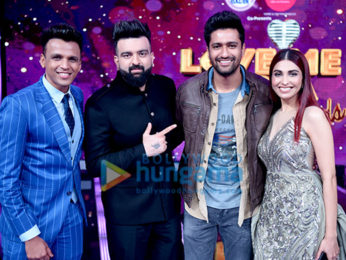 Vicky Kaushal and Yami Gautam snapped on sets of the reality show Love Me India grand finale