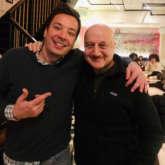 Anupam Kher meets The Tonight Show host Jimmy Fallon