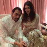 Arjun Rampal twins in white with rumoured girlfriend Gabriella Demetriades at a wedding