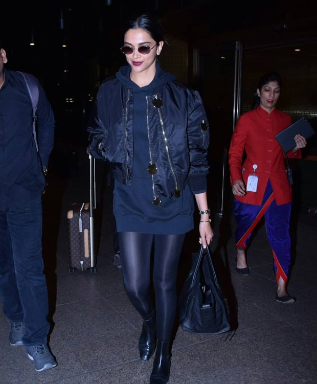 Deepika Padukone in Givenchy on her way back from Paris (2)