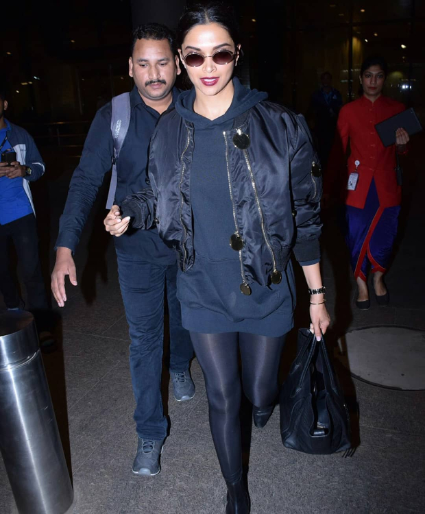 Deepika Padukone in Givenchy on her way back from Paris (4)