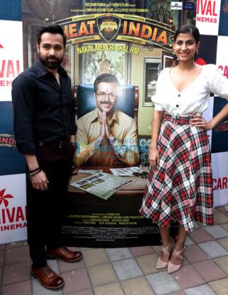 Emraan Hashmi and Shreya Dhanwanthary promote 'Why Cheat india' at Carnival Cinemas in Mumbai