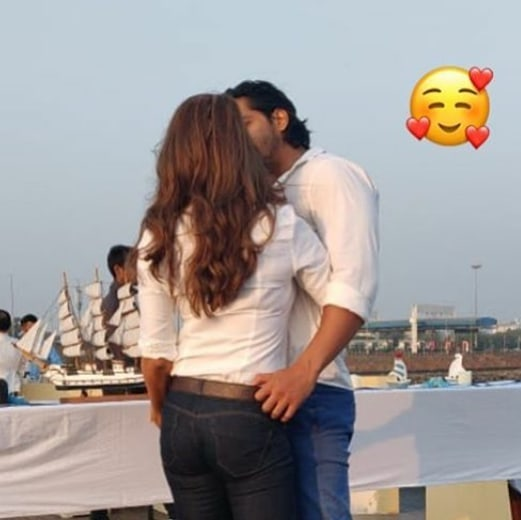 Harshvardha Rane and Kim Sharma share a passionate KISS and it has gone VIRAL on the internet!