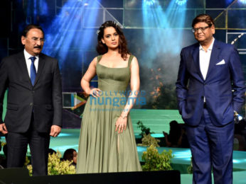 Kangana Ranaut walks the ramp at the Aditya Birla LiveEco fashion show