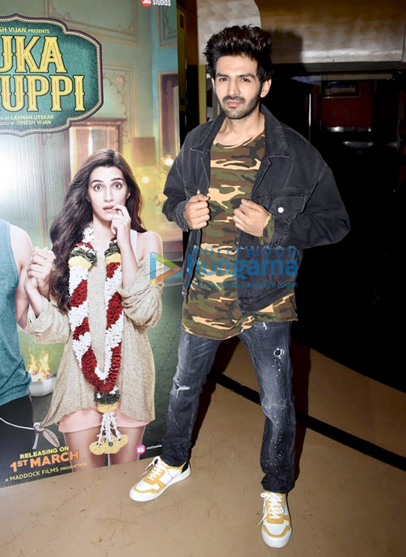 Kartik Aaryan, Kriti Sanon, Pankaj Tripathi and others grace the trailer launch of 'Luka Chuppi' (4)