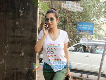 Malaika Arora snapped at a salon in Bandra