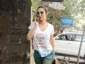 Malaika Arora snapped at a salon in Bandra
