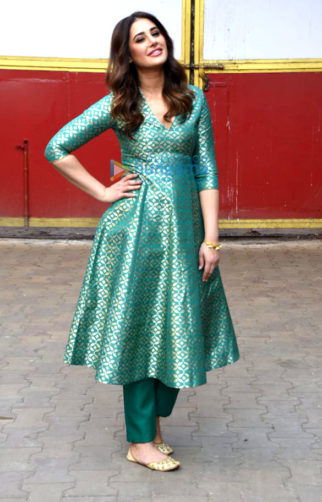 Nargis Fakhri snapped promoting her film Amavas in Mumbai