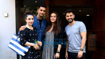 Neha Dhupia, Angad Bedi, Soha Ali Khan and Kunal Khemu spotted at Salt Water Cafe in Bandra