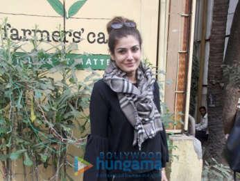 Raveena Tandon snapped at Farmers' Cafe in Bandra
