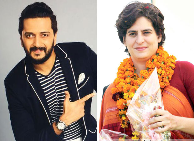 Riteish Deshmukh congratulates Priyanka Gandhi via Twitter