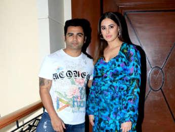 Sachiin Joshi and Nargis Fakhri snapped during Amavas promotions