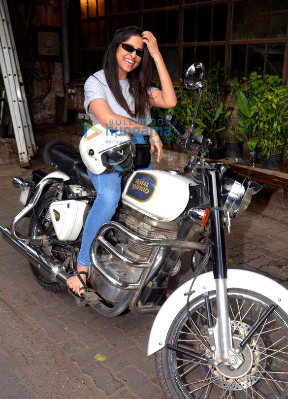 Sai Tamhankar spotted at Pali Village Cafe in Bandra