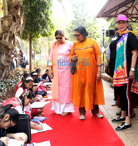 Shabana Azmi and Tanvi Azmi attend the Mijwan painting and drawing competition for children who are specially abled