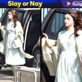 Slay or Nay - Alia Bhatt in Manish Malhotra for meeting PM Narendra Modi in Delhi (Featured)