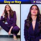 Slay or Nay - Esha Gupta in Nikhil Thampi suit for Get Dirty song launch (Featured)