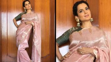 Slay or Nay - Kangana Ranaut in Ekaya Banaras for Manikarnika trailer launch in Hyderabad (Featured)