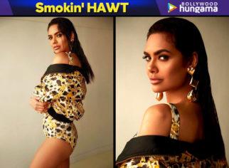 Smokin' HAWT - Esha Gupta in H&M x Moschino swimsuit and dress (Featured)