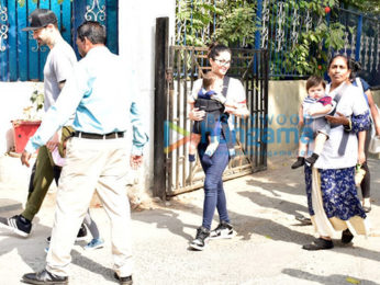 Sunny Leone with Daniel webber spotted with kids at juhu