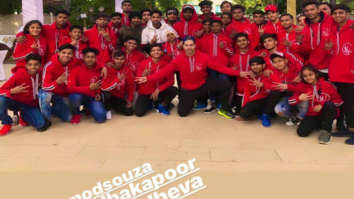 Varun Dhawan shares a picture with the team of his next which also stars Shraddha Kapoor and Prabhu Dheva