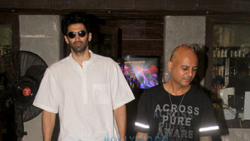 Aditya Roy Kapur spotted at a salon in Bandra